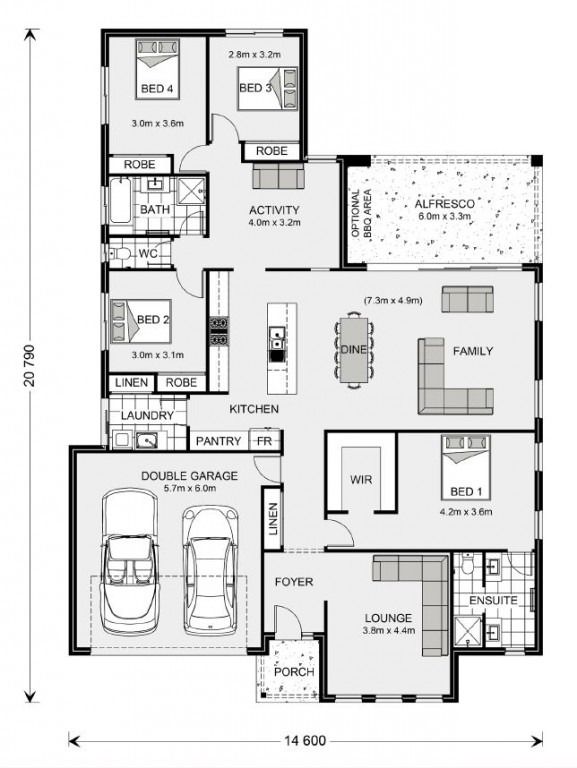 Vista 252 - Element Series Floorplan