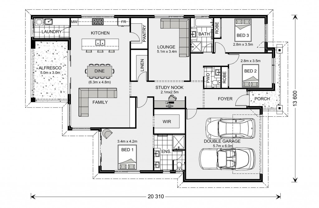 Newport 230 - Element Series Floorplan