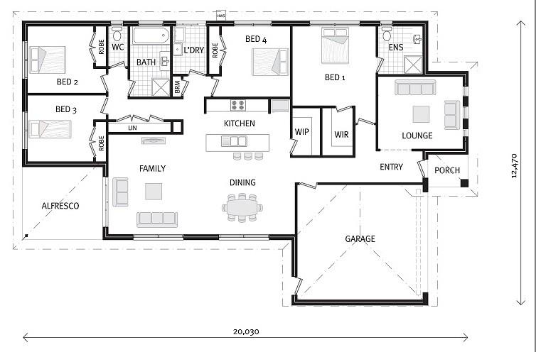 Woodridge 205 - Express Series Floorplan