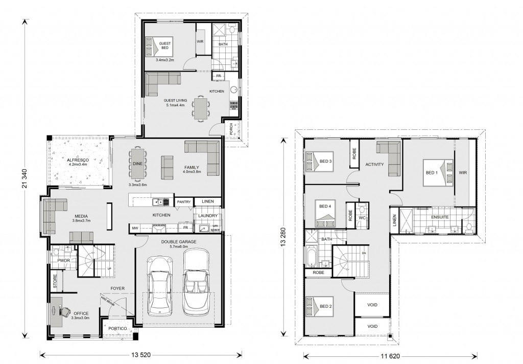 Blue Water 274 with Granny Flat - Dual Living Series Floorplan