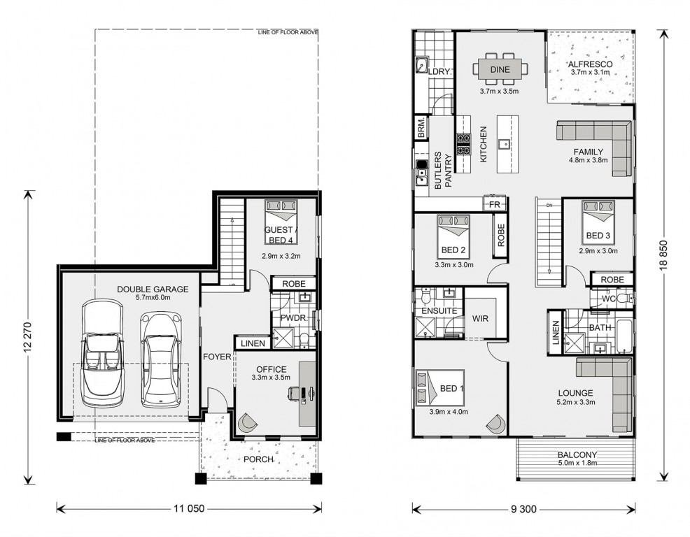 Seaview 267 Split - Split Level Series Floorplan