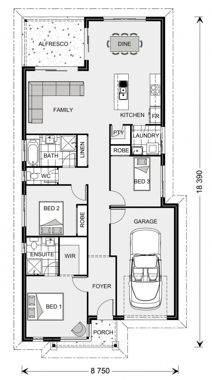 Kurrajong 147 - Element Series Floorplan