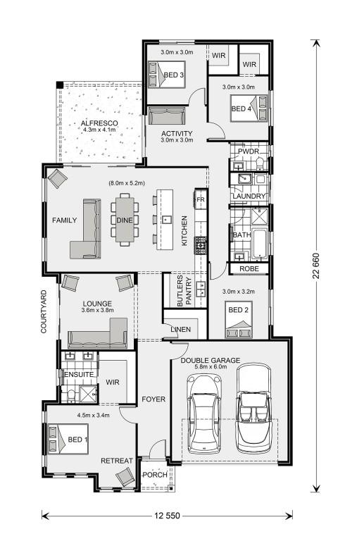 Long Bay 245 - Element Series Floorplan