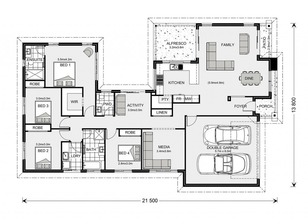 Lakeview 234 - Element Series Floorplan