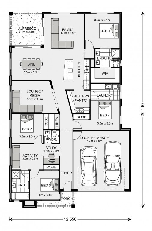 Beachlands 230 - Element Series Floorplan