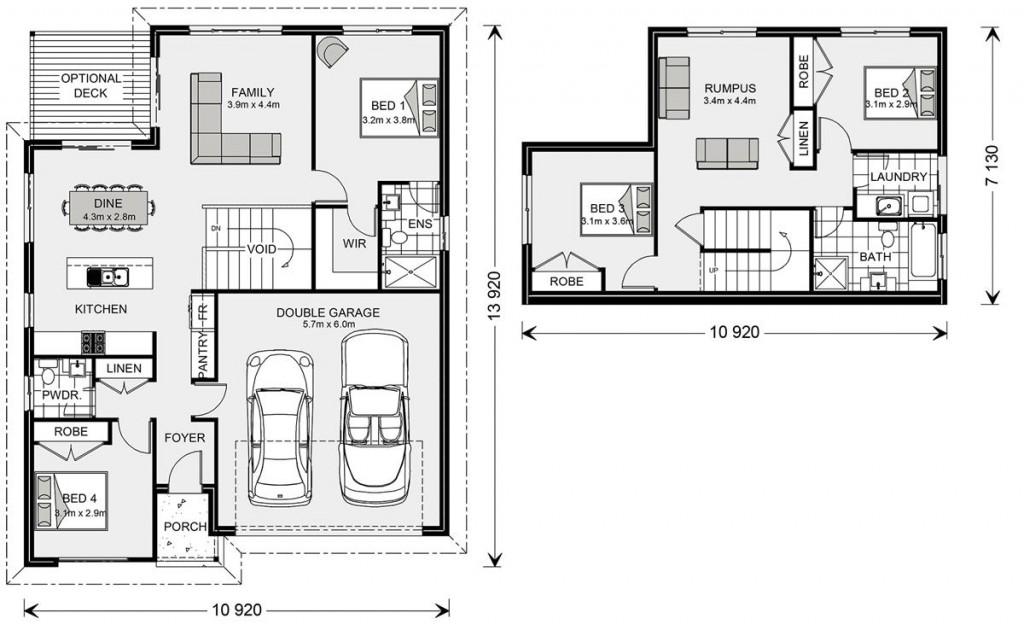 Tamar 205 SL - Split Level Series Floorplan
