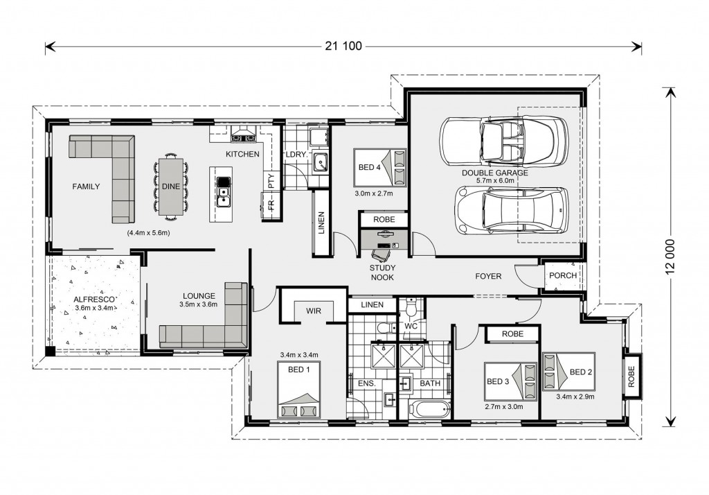 Hawkesbury 210 - Element Series Floorplan