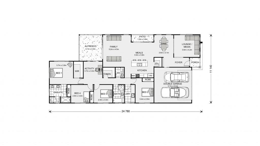 Oceanside 255 - Element Series Floorplan