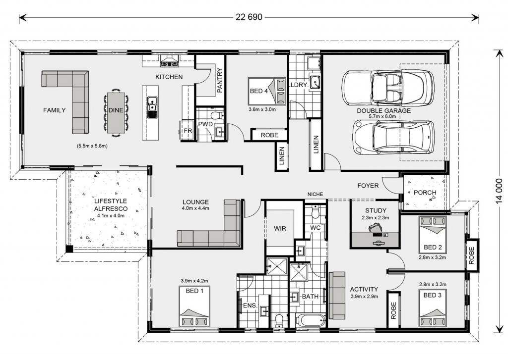 Hawkesbury 273 - Element Series Floorplan