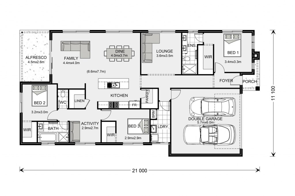 Portland 211 - Express Series Floorplan