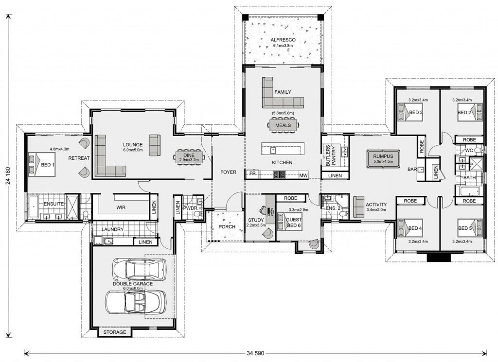 Mansfield 407 - Prestige Series Floorplan