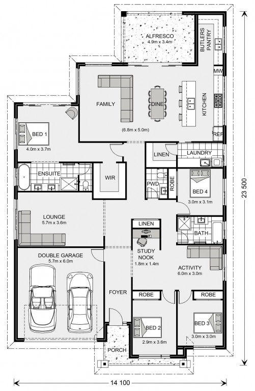 Newport 284 Floorplan