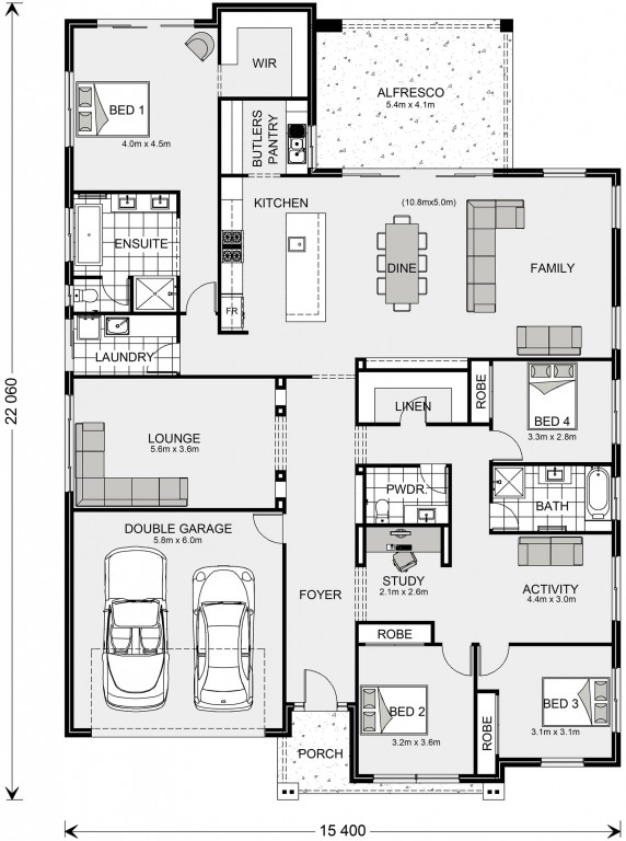 Forest Park 307 Floorplan