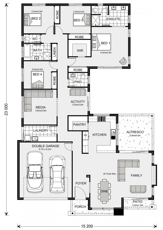 Lakeview 272 Floorplan