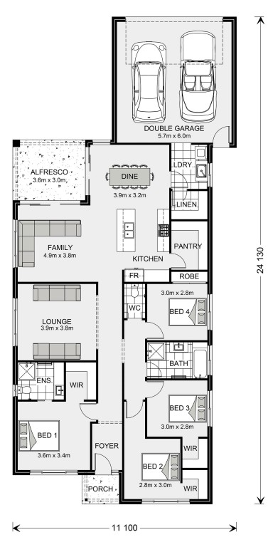 Edgewater Rear Lane Floorplan