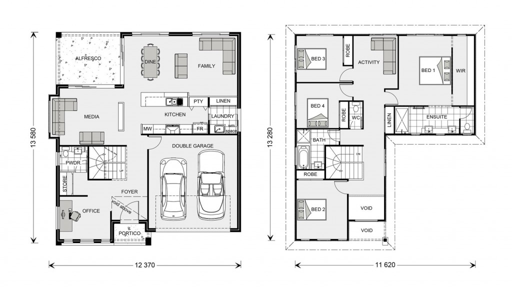 Blue Water 274 Floorplan