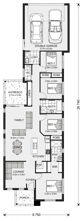 Greenhill Rear Lane Floorplan