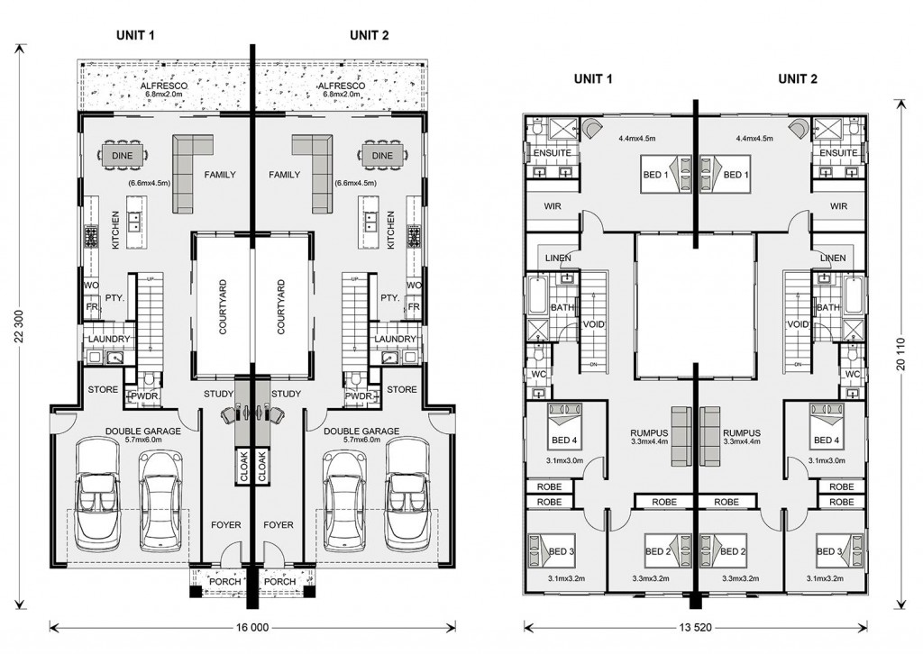 Morningside 251 Duplex Floorplan
