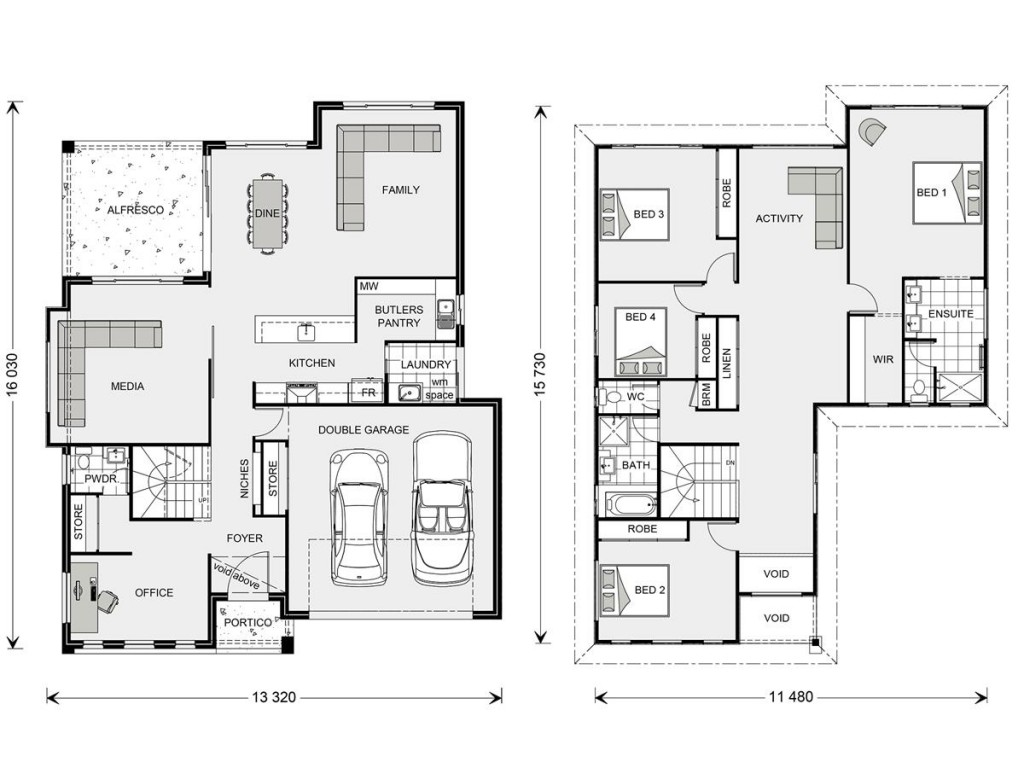 Blue Water 323 Floorplan