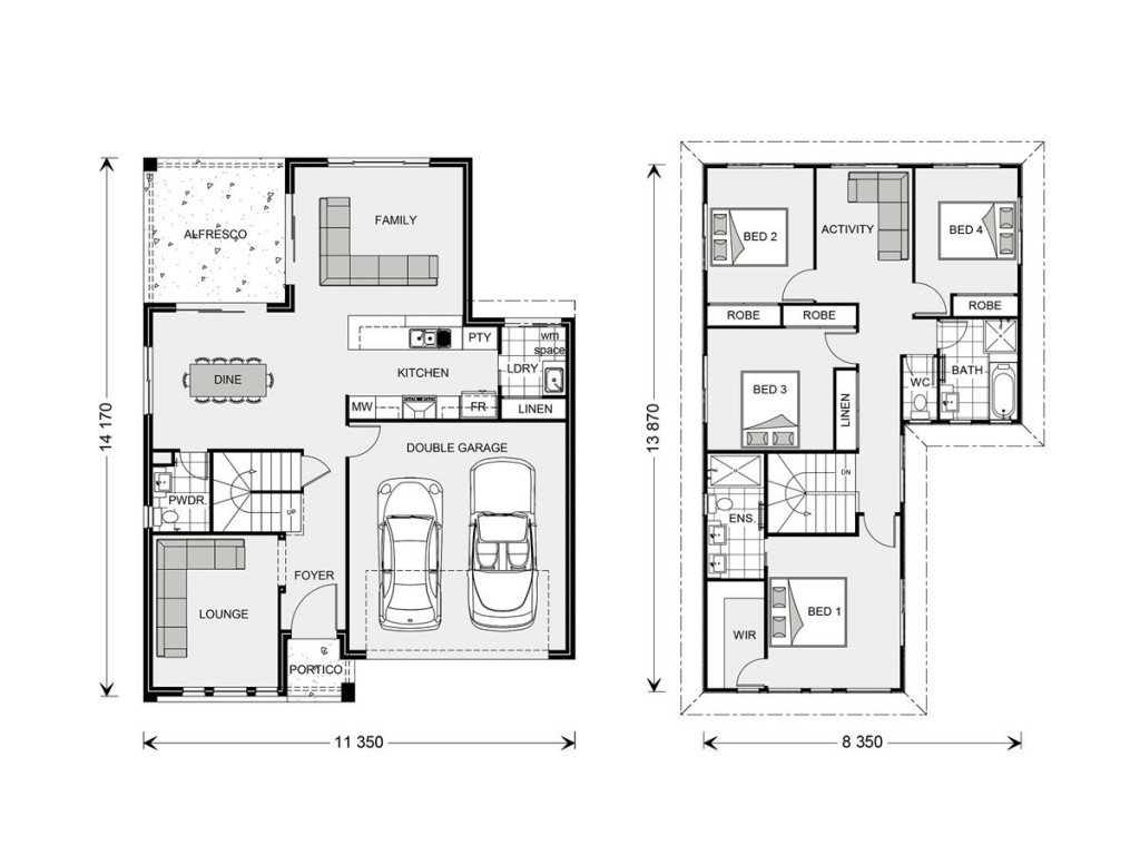 Blue Water 238 Floorplan