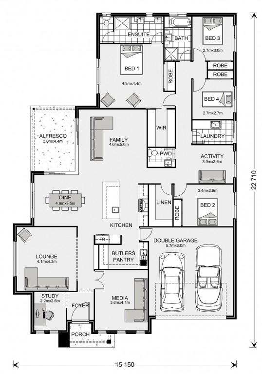 Bedarra 280 Floorplan