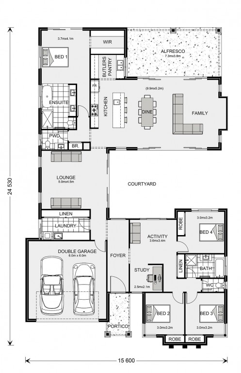 Mandalay 300 Floorplan