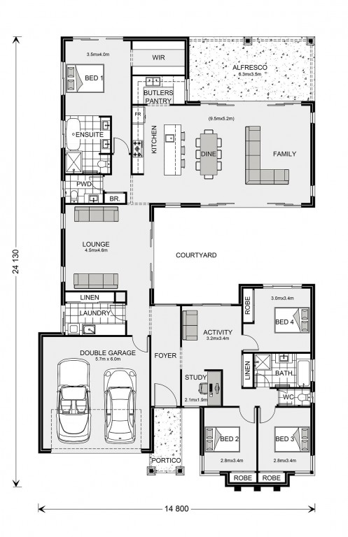 Mandalay 280 Floorplan