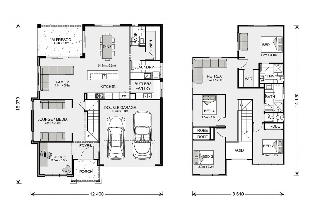 Twin Waters 270 Floorplan