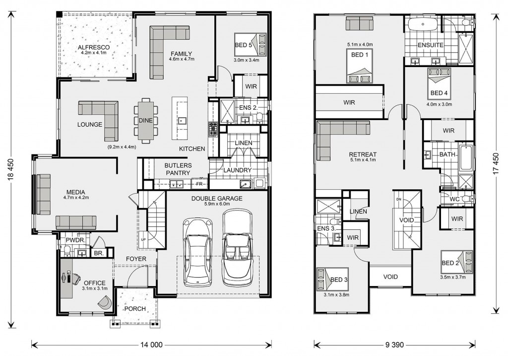 Twin Waters 380 Floorplan