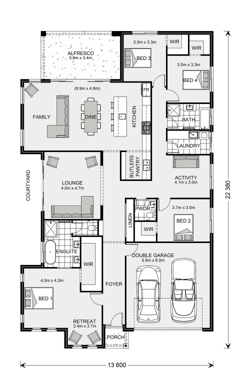 Long Bay 280 Floorplan