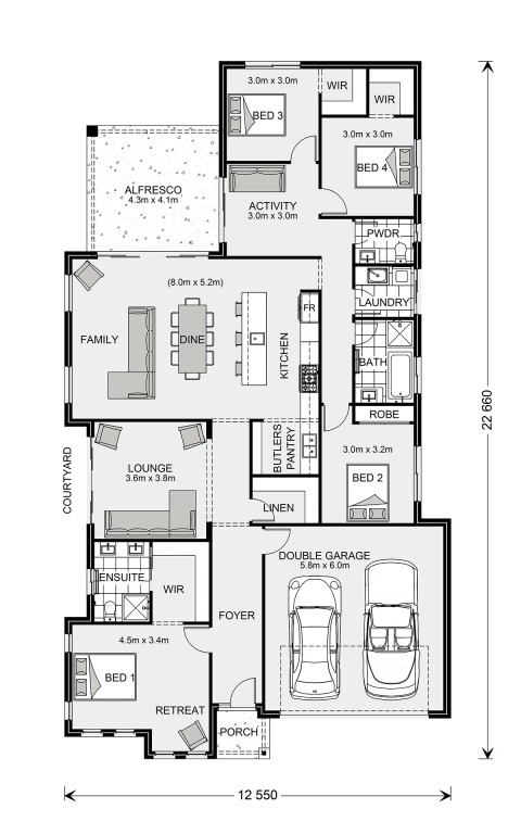 Long Bay 245 Floorplan