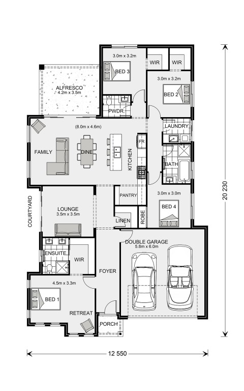Long Bay 220 Floorplan