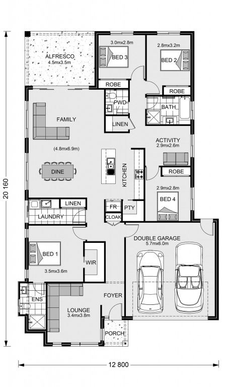 Claremont 221 Floorplan