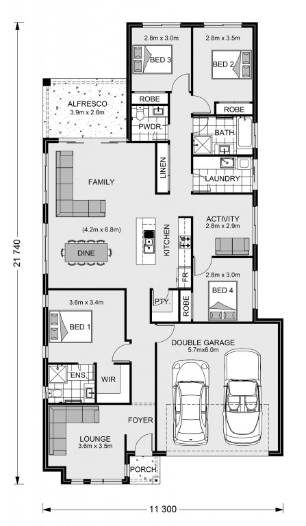 Claremont 210 Floorplan