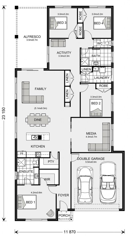 Pacific 250 Floorplan