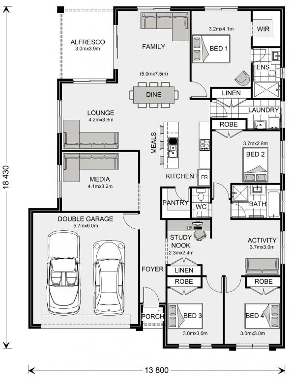 La Trobe 230 Floorplan