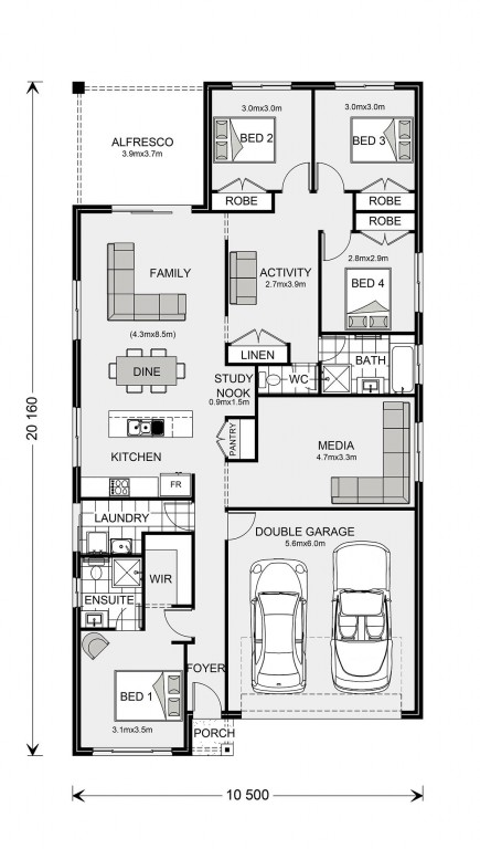Pacific 205 Floorplan