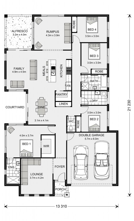Sunbury 250 Floorplan
