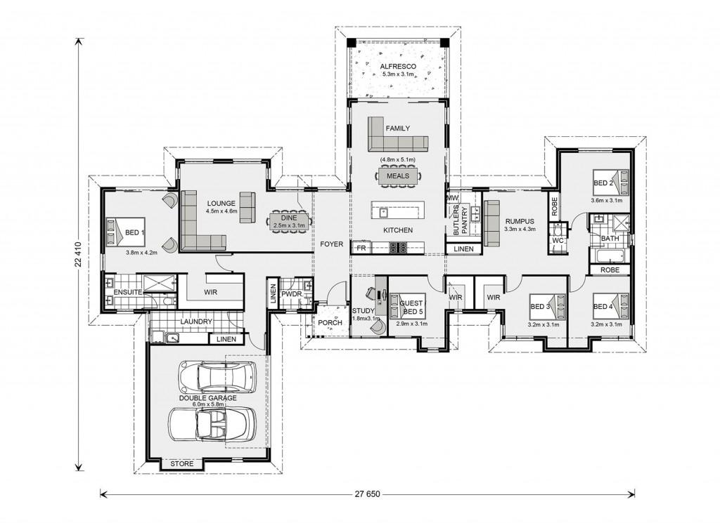 Mansfield 310 Floorplan