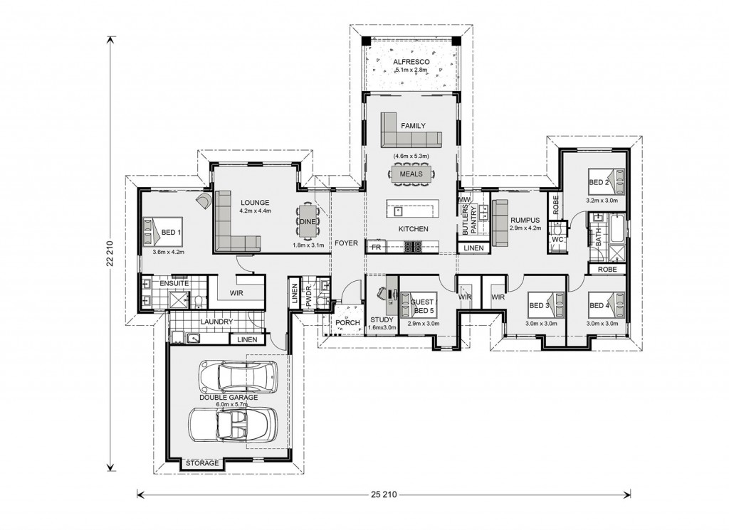 Mansfield 285 Floorplan