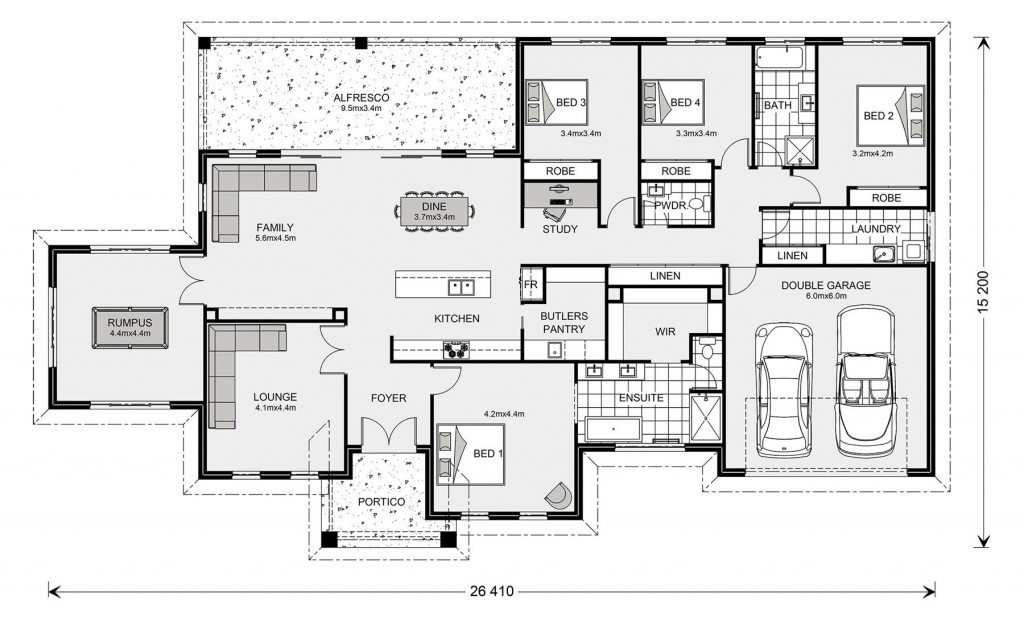 Oakdale Estate 320 Floorplan