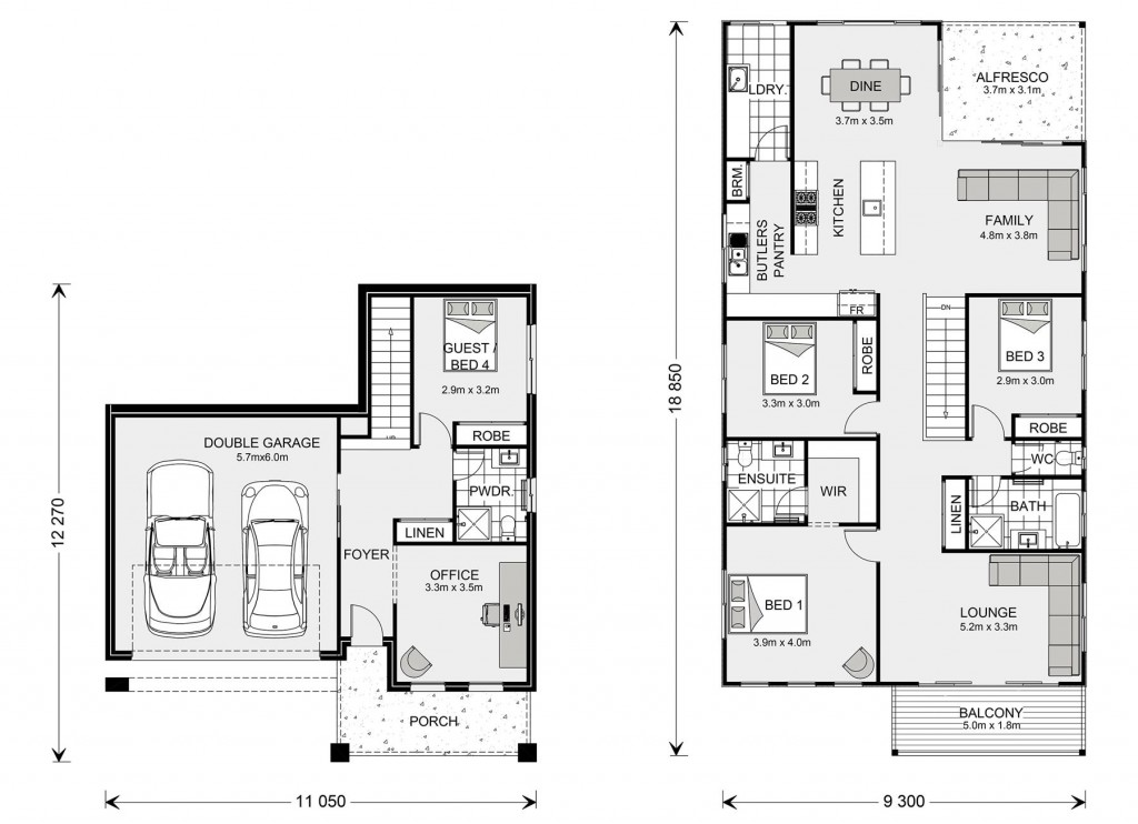 Seaview 267 Split Floorplan