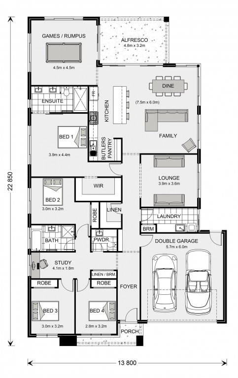 Broadbeach Floorplan