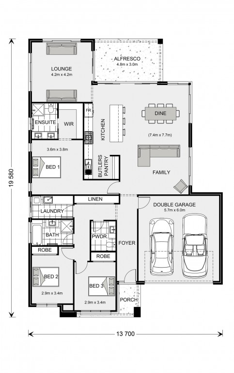Broadbeach 224 Floorplan