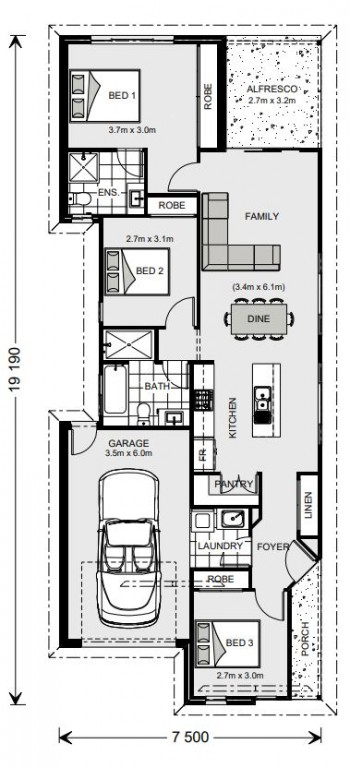 Robina 131 - Metro Series Floorplan
