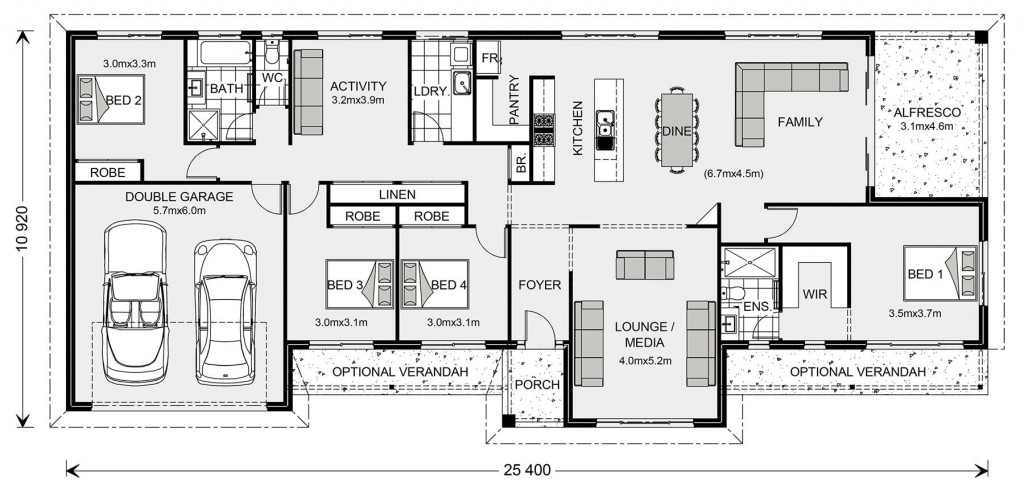 Longreach 247 - Homestead Series Floorplan
