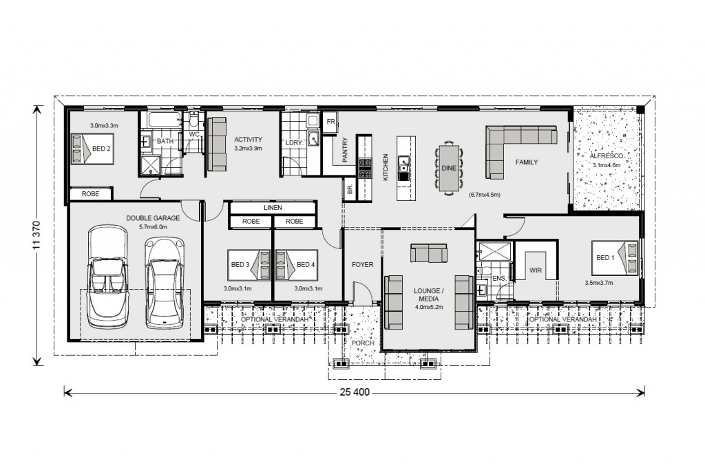 Longreach 247 - Homestead Series Floorplan