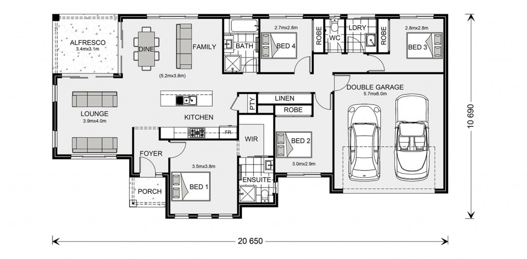 Rothbury Estate 192 - Estate Series Floorplan