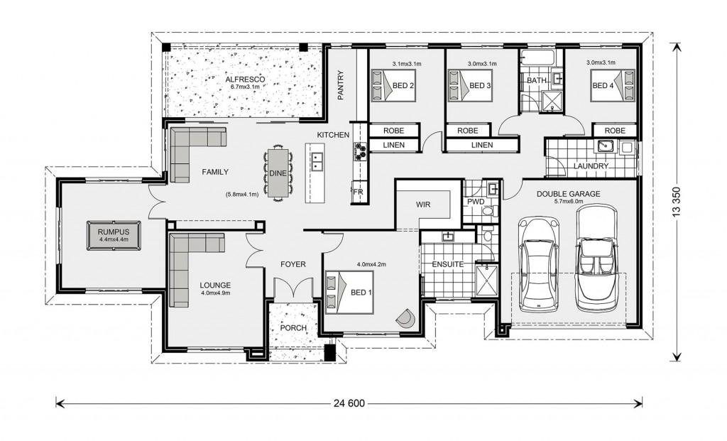 Oakdale 272 - Estate Series Floorplan