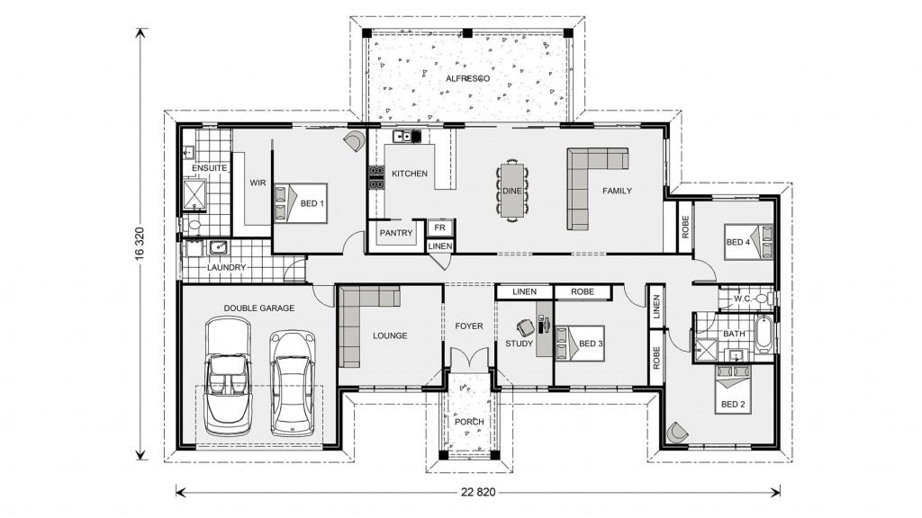 Caspian 332 - Estate Series Floorplan